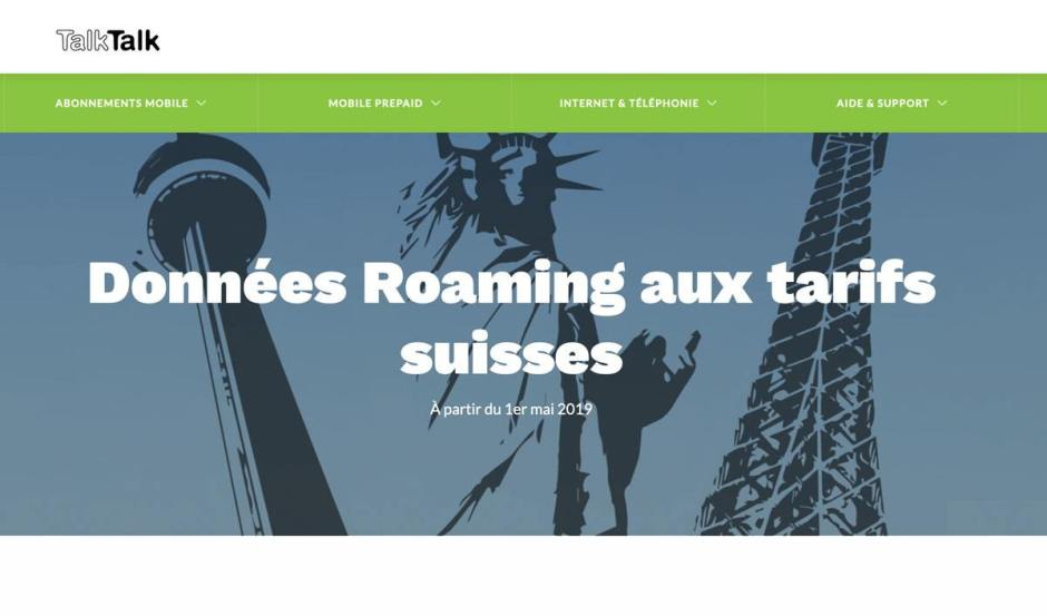 TalkTalk tente de se profiler sur le roaming.