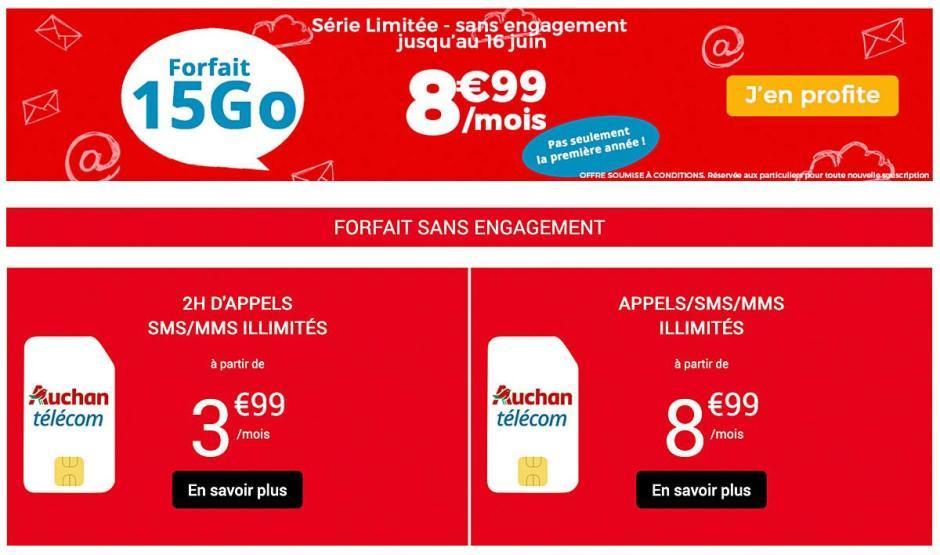 Un forfait cédé à vie 8,99 euros avec 2Go de roaming...