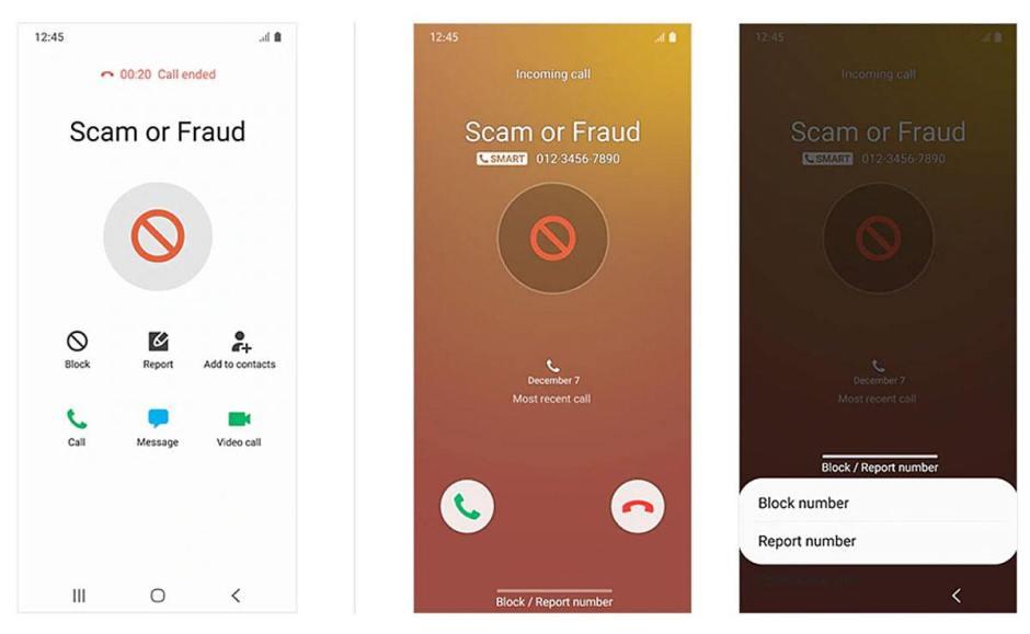 Sur Samsung Smart Call permet de détecter et de bloquer facilement les appels indésirables.