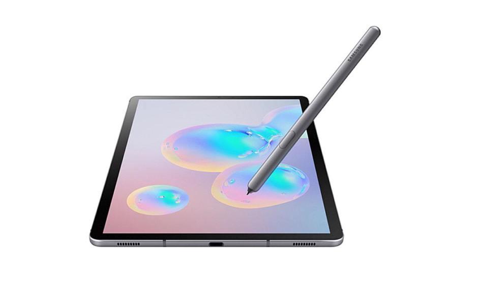 La Samsung Galaxy Tab S6 avec son scanner tactile situé sous l'écran et son stylet.
