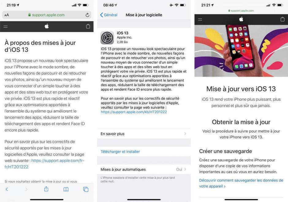 Apple iOS 13? Pourquoi ne pas attendre iOS 13.1.