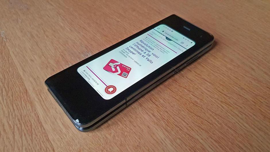 Le Samsung Galaxy Fold se négocie 2300 francs suisses sur internet.