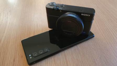 Sony RX100 VII et Xperia 5.