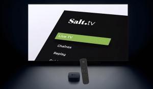 Télécommande Apple TV: Salt en a encore! Zattoo sur Panasonic et travail numérique