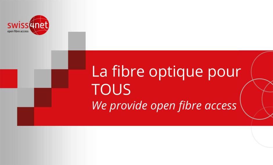 Swiss4net finance, construit et exploite des réseaux en fibre optique en Suisse.
