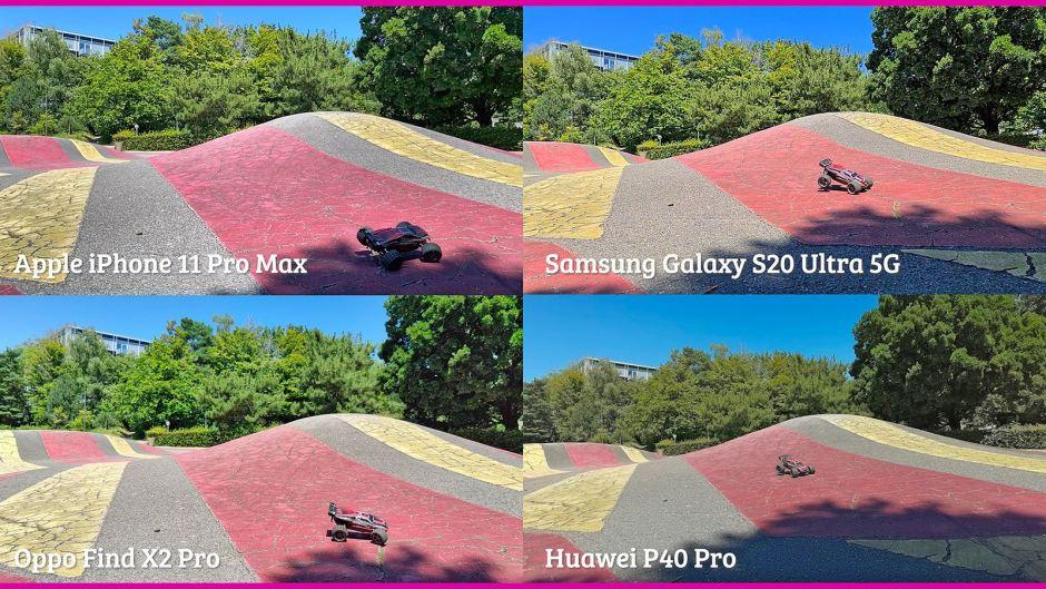 Oppo Find X2 Pro vs Huawei P40 Pro vs Samsung S20 Ultra 5G vs Appe iPhone 11 Pro Max: l'épreuve du ralenti.