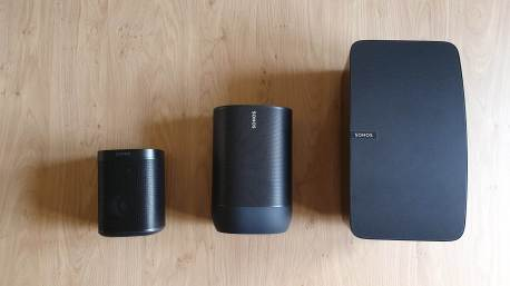 Sonos Move entre Sonos One et Sonos Play 5.