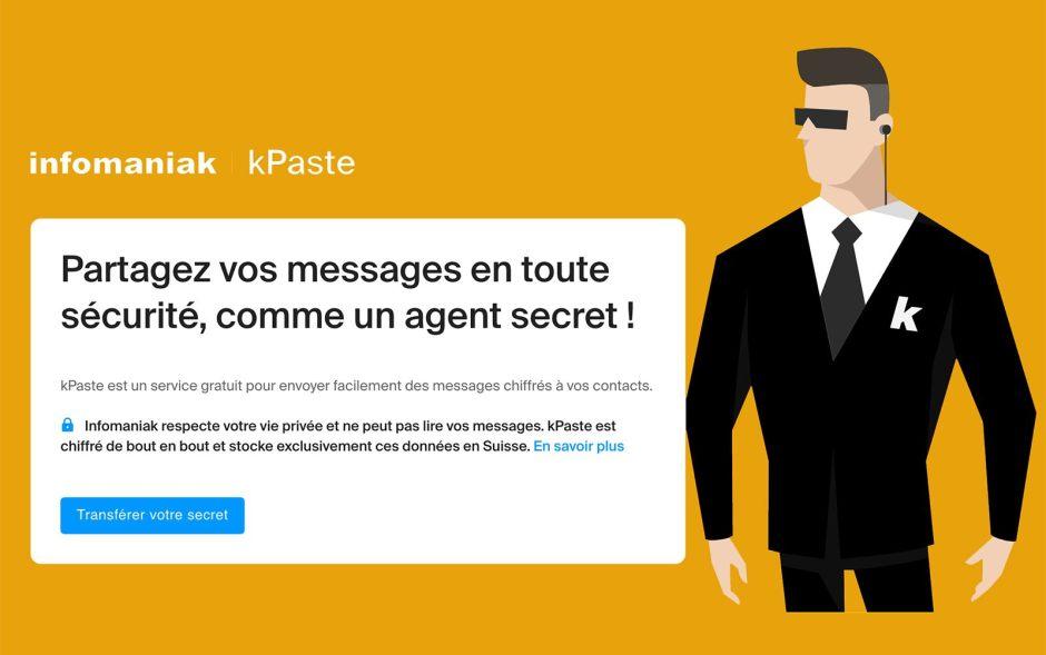kPaste pour envoyer en sécurité des documents sensibles.
