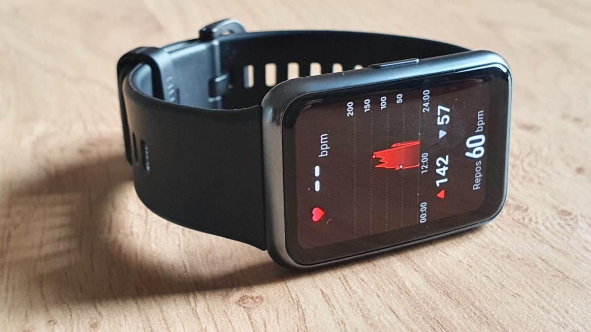 La forme de la montre Huawei.