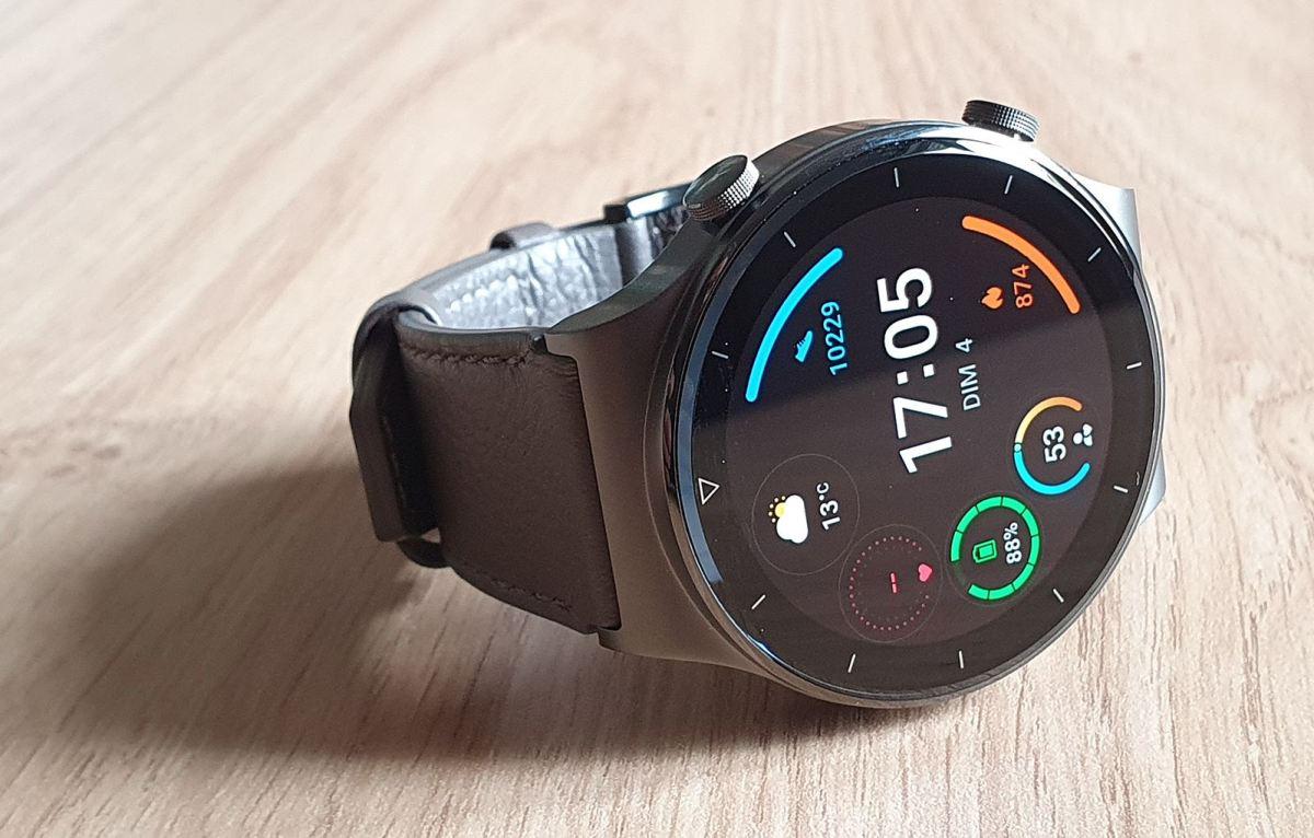 Le bracelet cuir Huawei Watch GT2 Pro et fils.