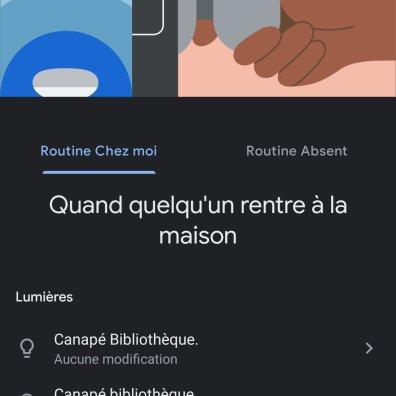 Des routines avec Google Assistant.