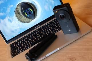 La caméra Y1 360 4K vaut une centaine de francs sur la toile...