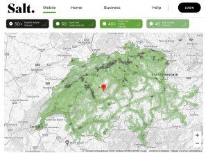 Internet mobile: Salt publie la carte détaillée et interactive de sa couverture5G et 5G+