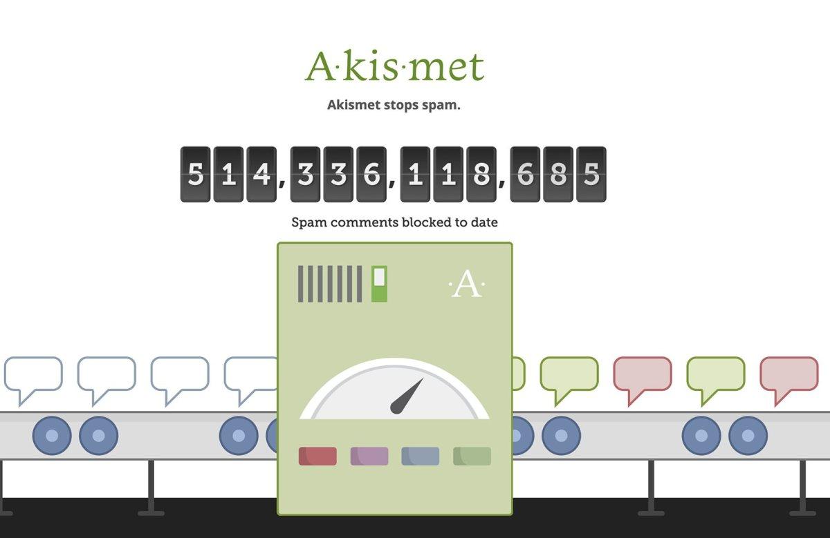 Akismet permet de juguler le spam des commentaires.