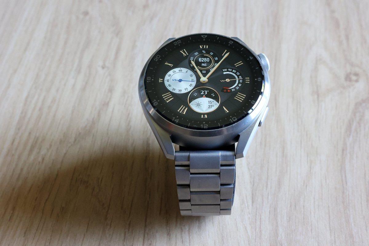 Huawei Watch 3 Pro en titane.