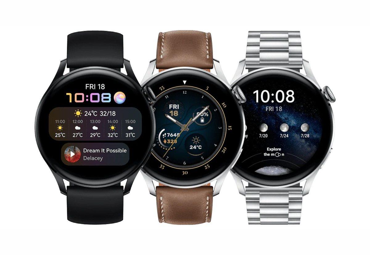 Huawei Watch 3 sur HarmonyOS.