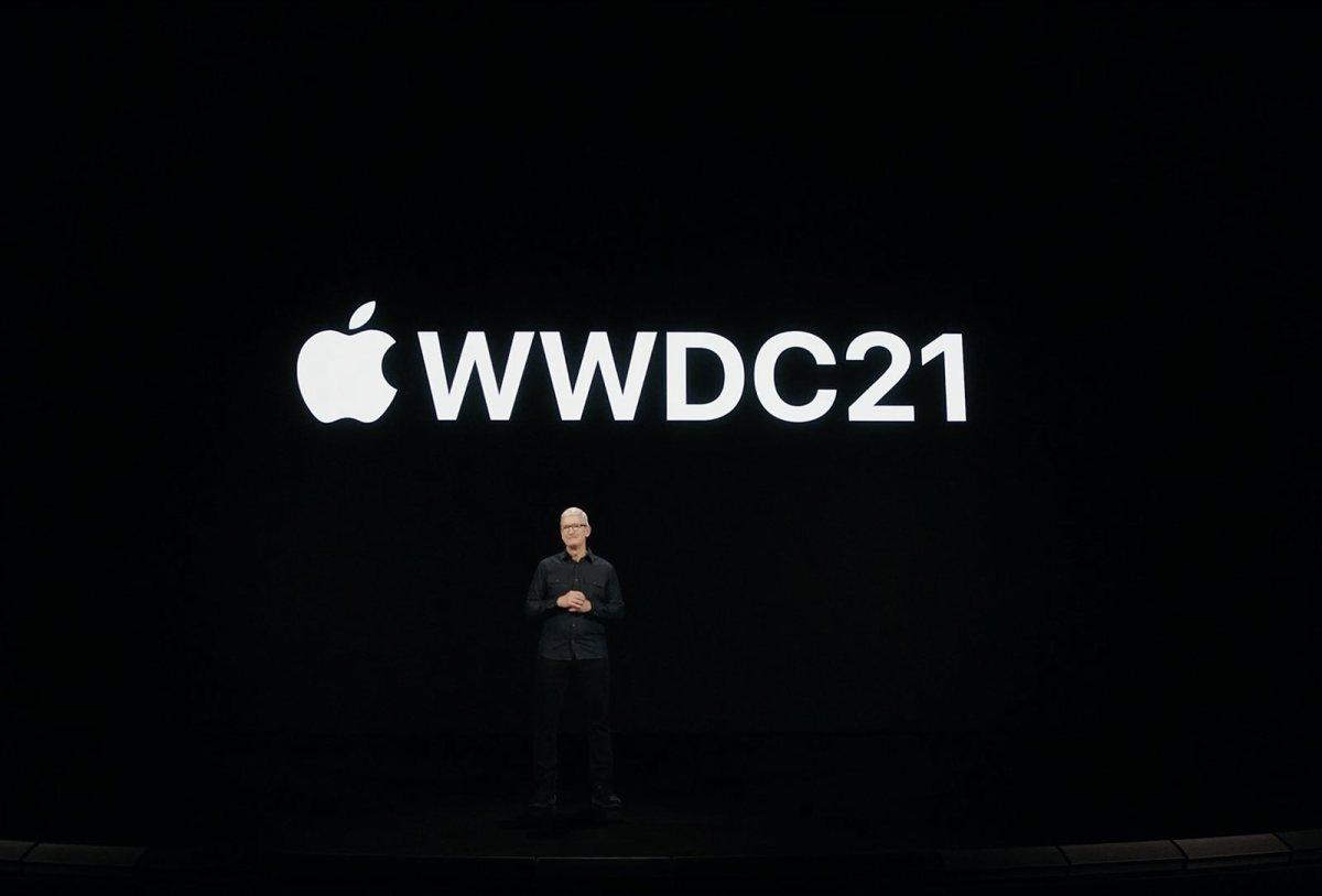Tim Cook lors de la WWDC 2021.