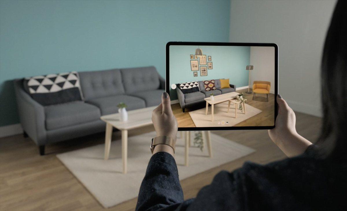 L'iPad d'Apple est taillé pour la réalité augmentée.