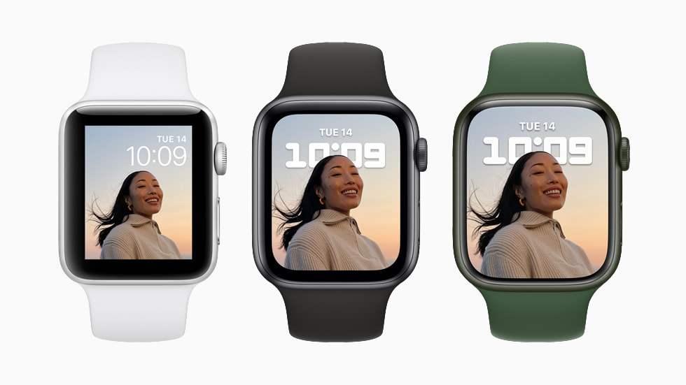 La nouvelle Apple Watch series 7.