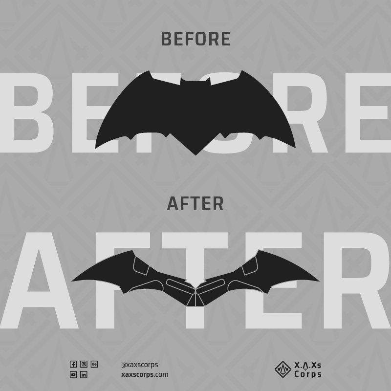 XAXs 2020 batman dceu logo comparision