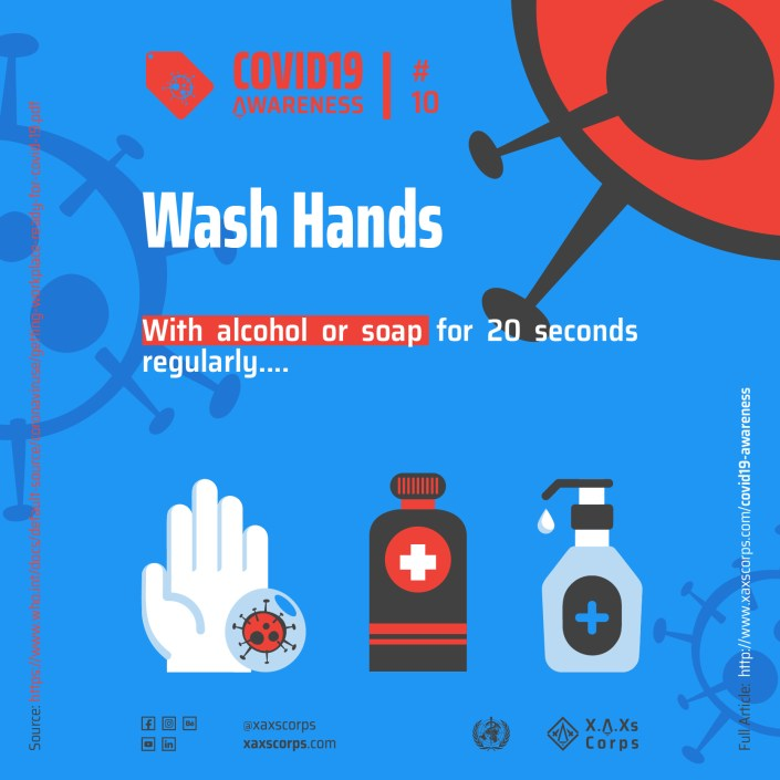 XAXs Covid 19 wash hands awareness