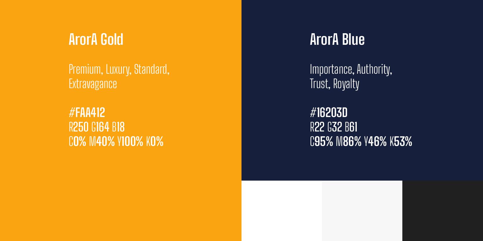 Arora Builders brand palette by XAXs