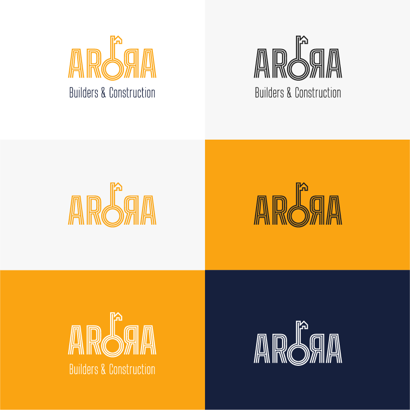 Arora Builders logo variations by XAXs