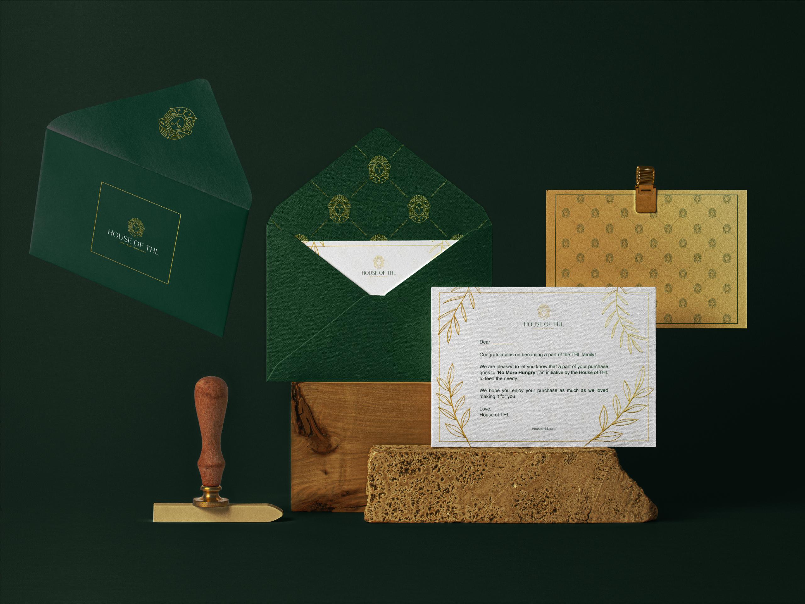 House of THL envelope design