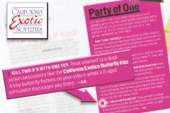 CalExotics' Butterfly Kiss Featured in Cosmo