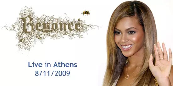 Beyonce live in Athens
