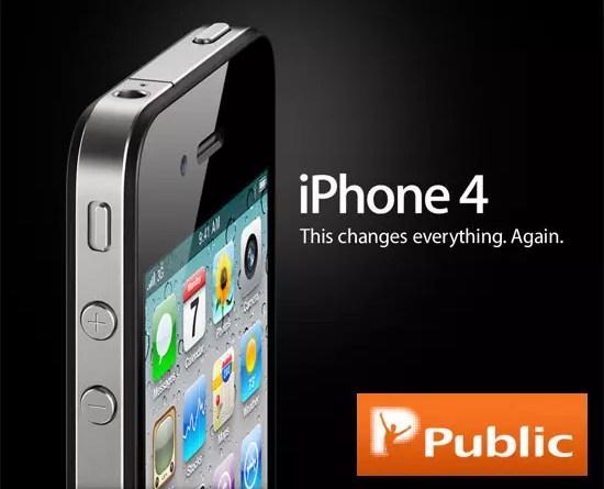 Public, Κλήρωση iPhone 4