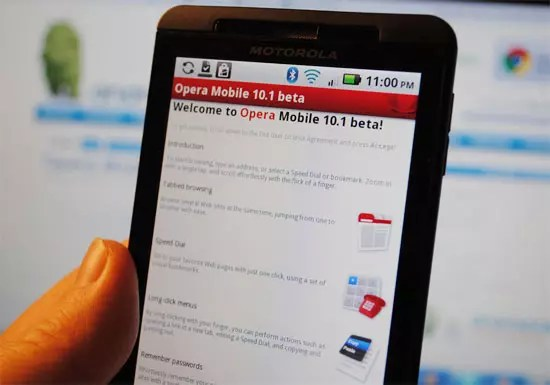 Opera Mobile 10.1 beta για Android