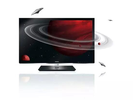Toshiba Full HD LED 3D TV με Edge LED οπίσθιου φωτισμού