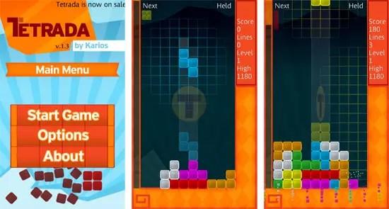 Tetrada, Game για Windows Phone 7 smartphones