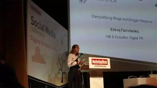 Ελένη Γιαννακάκη, Demystifying Blogs and Blogger Relations