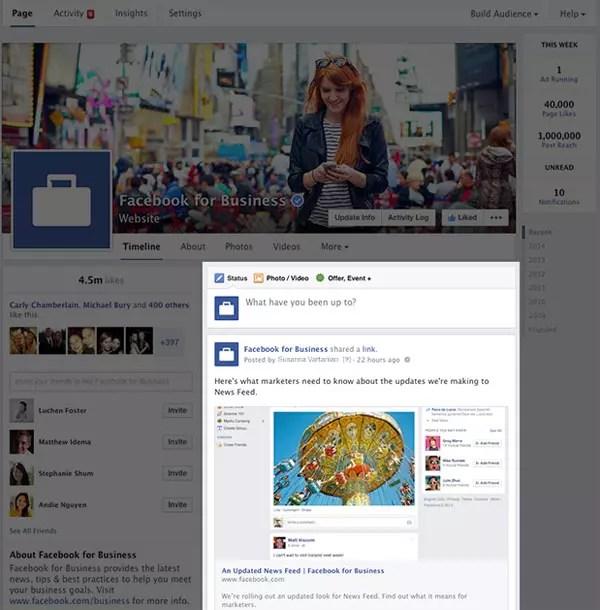 Νέα εμφάνιση Facebook Pages