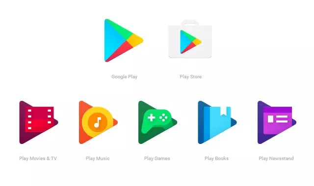 Google Play apps logos 2016