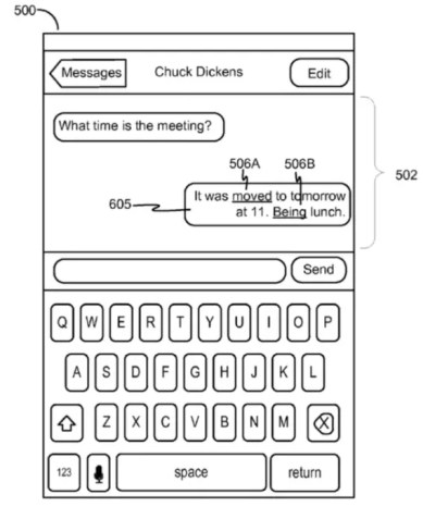 Apple autocorrect patent