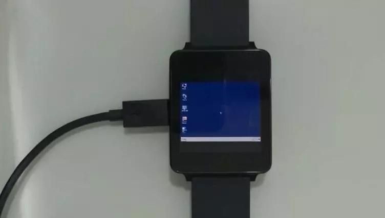 Smartwatch LG G Watch W100 running Windows 10