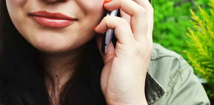 Woman smartphone calling