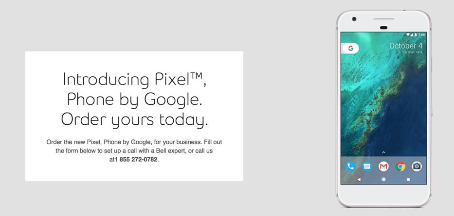 Google Pixel leaked banner