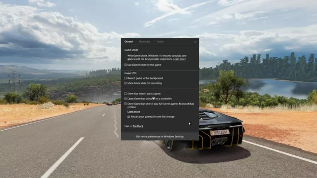 Windows 10 Creators Update Game Mode