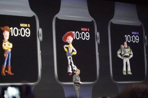 Apple Watch watchOS 4 Toy Story watchfaces