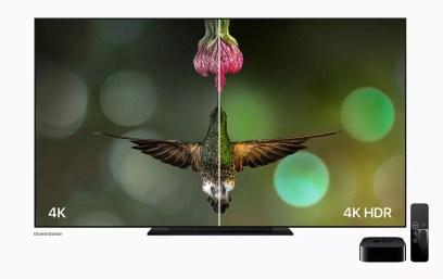 Apple TV 4K hummingbird 4K HDR comparison