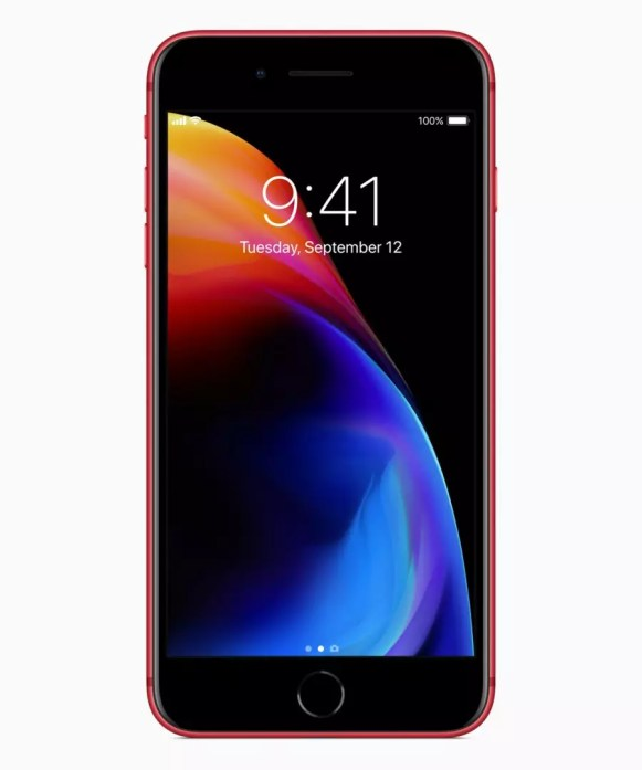 Apple iPhone 8 Plus (PRODUCT) RED front