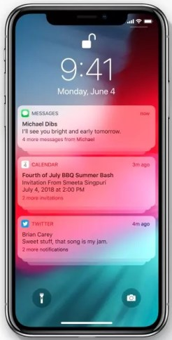 Apple iOS 12 Grouped Notifications