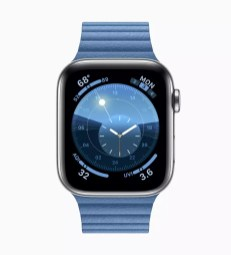 apple watchos6 cornflower screen 060319
