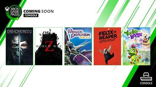 Yooka Layle et World War Z sont disponibles dans le Xbox Game Pass. Tous à vos Xbox One !