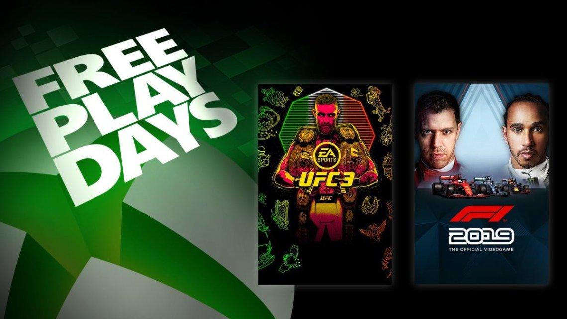 Pour les membres #XboxLiveGold ou #XboxGamePassUltimate, #UFC3 et à #F12019 sont jouables gratuitement ce week-end jusqu'au 3 novembre. pic.twitter.com/Q2vVaXenVQ