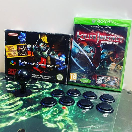 21 ans entre ces 2 boites – 21 years between these 2 boxes #killerinstinct #snes #snin #xboxone #rare #rareware #gamer #…